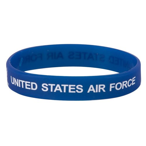 Eagle Crest Air Force Silicone Wristbands (One Size, Blue)