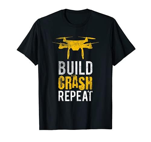 Drohne I Geschenk Drohnen Pilot I Quadrokopter Roboter T-Shirt