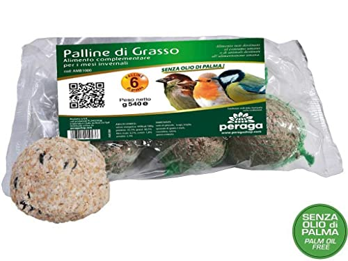 Lot de 72 boules de 90 g de graisse alimentaire pour oiseaux sauvages, sans huile de palme
