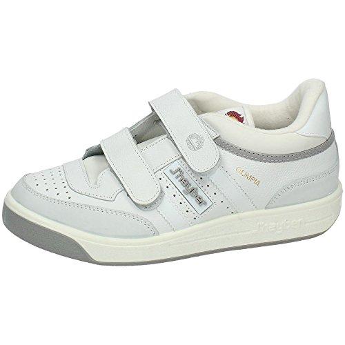 Zapatillas deportivas J´hayber hombre color blanco con velcro piel flor modelo olimpiaTalla 44