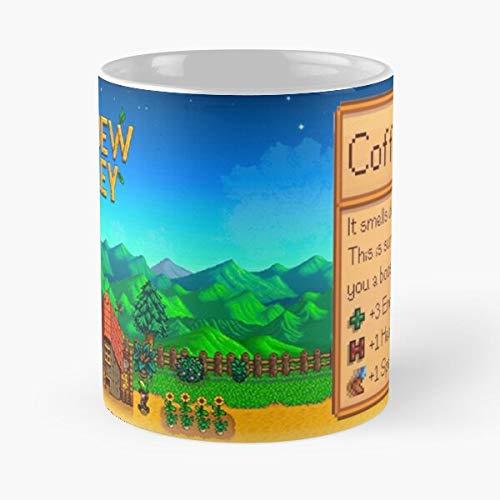 Pixel Valley Stardew Cup Coffee Taza de café con Leche 11 oz