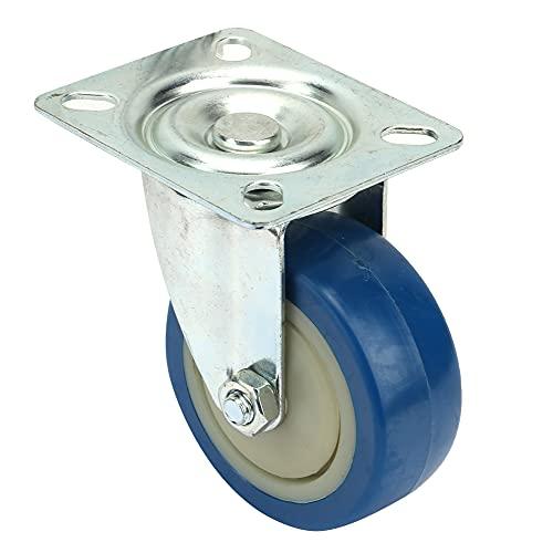 Geschikte 3 inch Caster, blauwe bureaustoel Caster Degree Swivel Caster Wheel Rolls Service Life Gemaakt van staal en PVC voor meubels Trolley