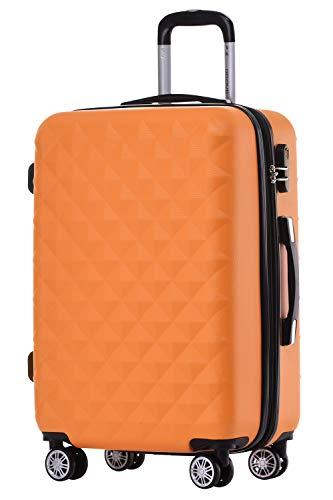 Trolley da viaggio rigido 2066, con ruote, misura: M, L, XL, disponibile in 12colori Multicolore Orangen m