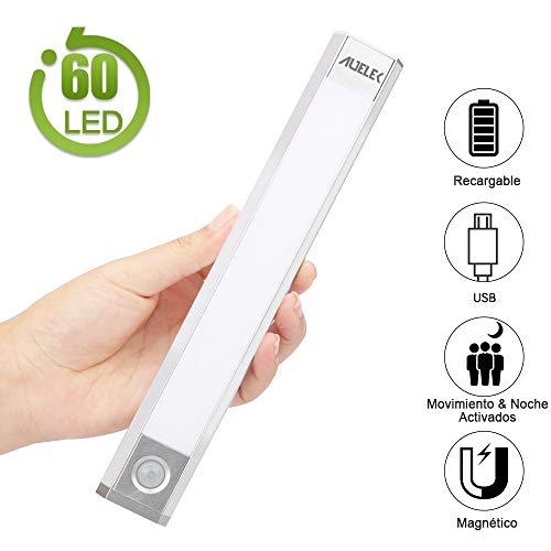 Luz LED Armario Luz Sensor Nocturna Lámpara, 60 LED Luz de