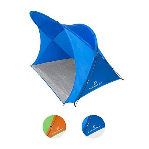 #DoYourOutdoorStrandzelt inkl. Tragetasche & Heringen | XL-Größe ca. 200 x 150 x 130 cm | Sonnenschutz | Festival Outdoor Campingzelt