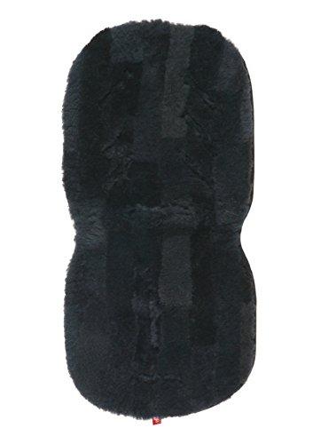 Kaiser Naturfelle 66004 - Lammfellauflage Universal 35 x 80 cm, Patchwork anthrazit