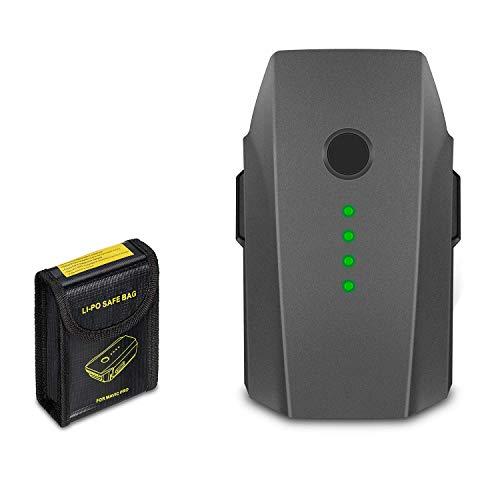 JYJZPB Mavic Pro 3830mAh LiPo Intelligent Flight Battery and Battery Safe Bag Compatible for DJI Mavic Pro, DJI Mavic Pro Platinum, DJI Mavic Pro White