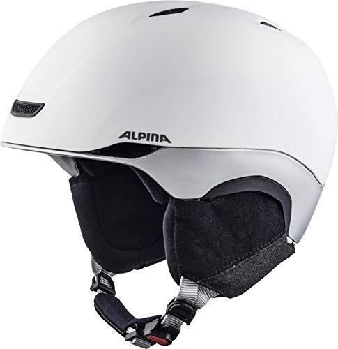 ALPINA PARSENA Skihelm, Unisex– Erwachsene, white-grey mat, 52-56