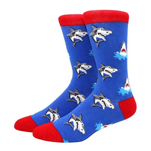Calcetines de algodón peinado para hombre Harajuku colorido feliz divertido largo cálido calcetines de vestir para hombre boda regalo de Navidad