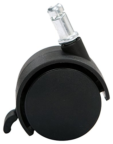 AKRacing Pro Casters with Lock Function, Plastic, Black