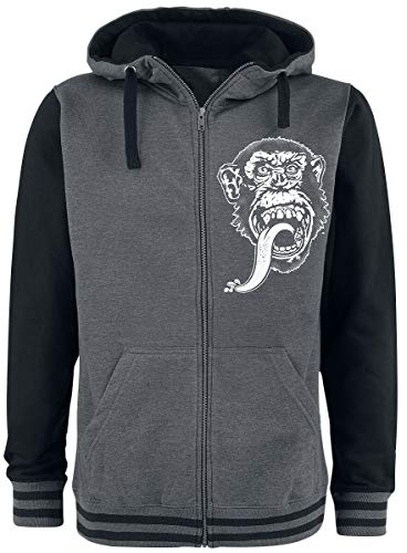 Gas Monkey Garage Hoodie Dallas, Texas Varsity Zip Grey size L