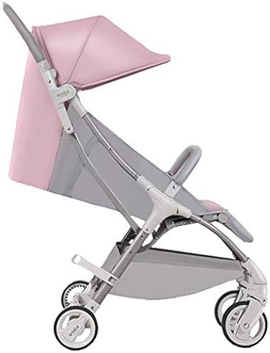 Kinderfürr r Kinderwagen Dreirad Für Kinder 0-3 Jahre Alter Wagen Faltbarer Tragbarer Wagen Sonnenschutzwagen (Farbe   Rosa, Größe   82  49  10cm  )
