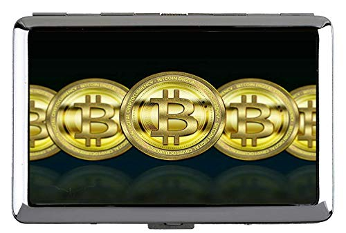 Zigarettenschachtel, Geld Bitcoin Papiergeld Professionelle Visitenkartenetui