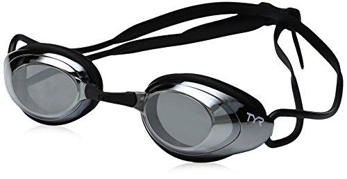 TYR Blackhawk Racing Femme Mirrored Googles, Silver/Black, One Siz