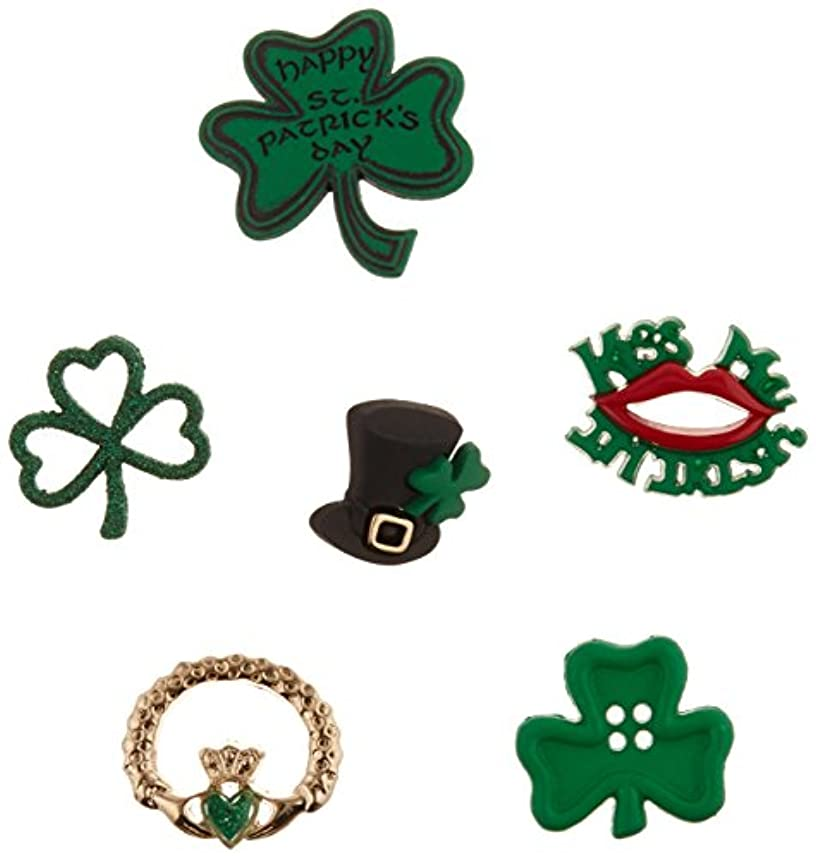 Jesse James When When Irish Eyes are Smiling Buttons, 3 x 0.2 x 3.8 Inch, Dark Green