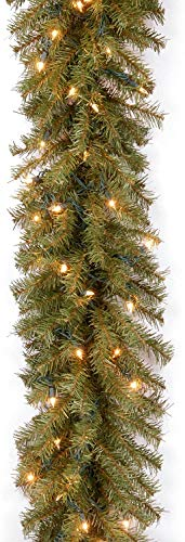 National Tree Company Company lit Artificial Christmas Garland Includes Pre-Strung White Lights Norwood Fir, 9 ft