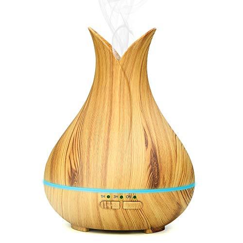 Brilex Difusor Aromaterapia, 150ml Aromas Humidificadorea ultrasónico Difusores de grano de madera, Apagado automático sin BPA y sin agua, Difusores de aceite esencial con función de temporizador