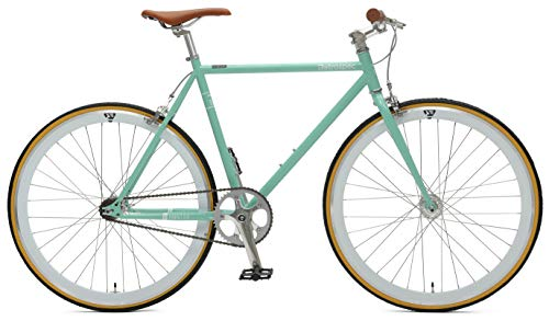 Retrospec Bicycles Mantra V2 Single Speed Fixed Gear Bicycle, Celeste, 43cm/X-Small