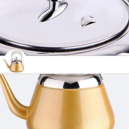 ,Plata XLSQW Acero Inoxidable Tetera silba Moderna silba del Acero Inoxidable del pote del t/é para los quemadores con Cool Grip Mango ergon/ómico de Acero Inoxidable 2.5 litros