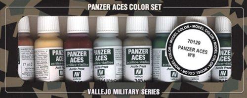 Vallejo Model Color Set - Panzer Aces No.6 (x8 Colours) - VAL70129