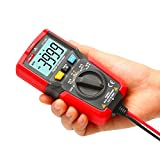 UNI-T UT125C Digital Multimeter Pocket Multi Tester, 4000 Counts AC DC Voltage AC DC Current Resistance Capacitance Frequency Duty Cycle NCV Diode Test Continuity Test Data Hold Auto Power off