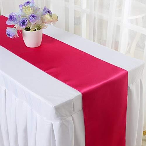 Decoración hogareña 30 * 275cm de la bandera de decoración de la tabla del festival del partido de Mesa Hotel Restaurant banquete de la boda 10pcs satén de seda para decoración de fiesta en casa