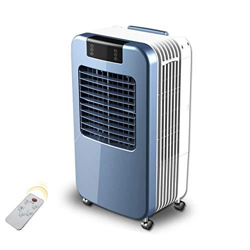 Virtper Ventilateur de climatisation industriel télécommandé 3 en 1 avec humidificateur et purificateur d'air, 3 vitesses de ventilateur avec oscillation, tension 220V, réservoir d'eau 30L, 12 heures