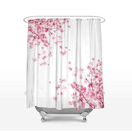 cortinas ducha flores cerezo
