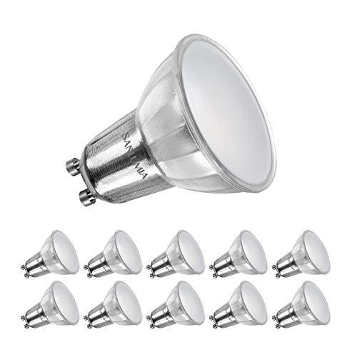 Sanlumia | LED Lampe | GU10 10er Set | LED Birne 9 Watt | Glühbirne 845 Lumen | Leuchtmittel ersetzt Halogen 100W | Naturweiß 4000K | Abstrahlwinkel 110° | Nicht Dimmbar | LED-Licht Reflektor