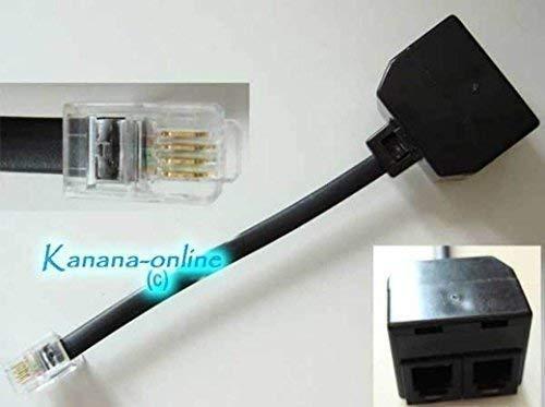 Adaptador distribuidor Y para teléfono RJ10, 2 acoplamientos RJ10, RJ9 de 10cm...