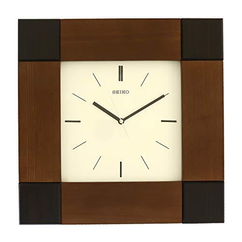 Seiko Wall Clock (39 cm x 39 cm x 5.5 cm, Brown)