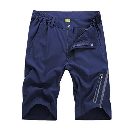 Pantalones Cortos Ciclistas Pantalones cortos de bicicleta de montaña para hombre Ciclismo Pantalones de ocio al aire libre para pescar Correr Senderismo para el Entrenamiento de Ciclismo en Carrera
