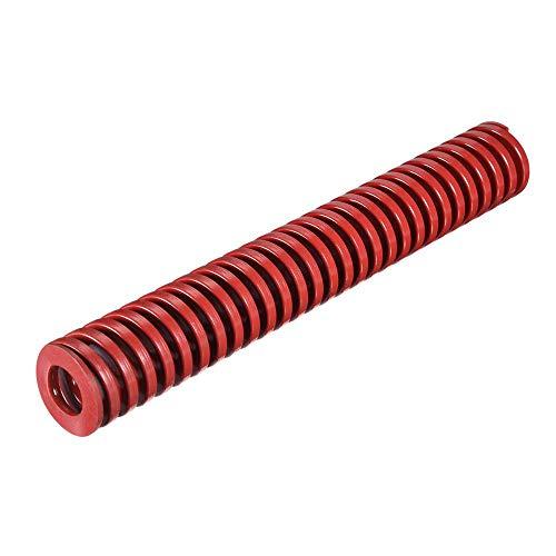Muelle de compresión de 30 mm OD 200 mm Largo Espiral Estampación de Carga Media de Compresión Molde de Primavera Rojo para Impresora 3D Primavera Calentadora Cama