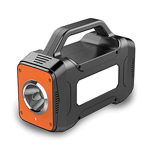 QuRRong Generador Inverter Central Eléctrica Portátil 12000mAh Generador Solar De Emergencia Al Aire Libre De Emergencia Al Aire Libre para Viaje por Carretera (Color : Black+Orange, Size : One Size)