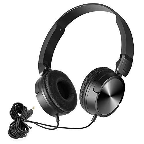 NAVISKAUTO Kopfhörer Faltbarer Bügelkopfhörer Stereo Audio System 1,2m Kabel 3,5mm Klinkestecker für Tragbarer DVD Player Kopfstütze Monitor PC Mp3 Tablet