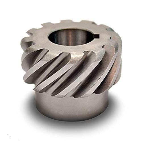 Boston Gear HS636R Plain Helical Gear, 45 Degree Helix, 14.5 Degree Pressure Angle, 1.250 Bore, 6 Pitch, 36 Teeth, Steel, RH