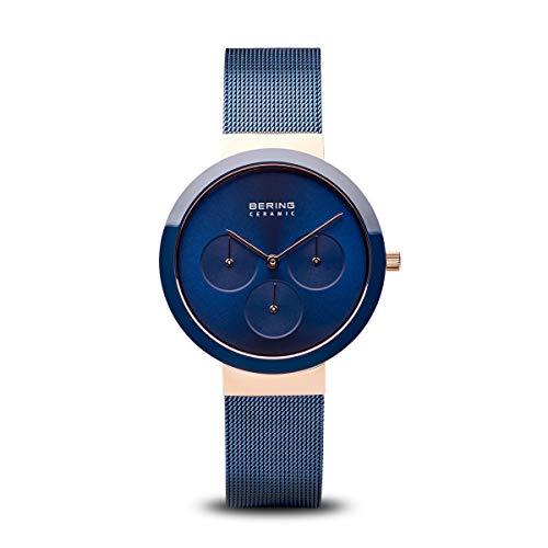 BERING Damen Analog Quarz Uhr mit Edelstahl Armband 35036-367