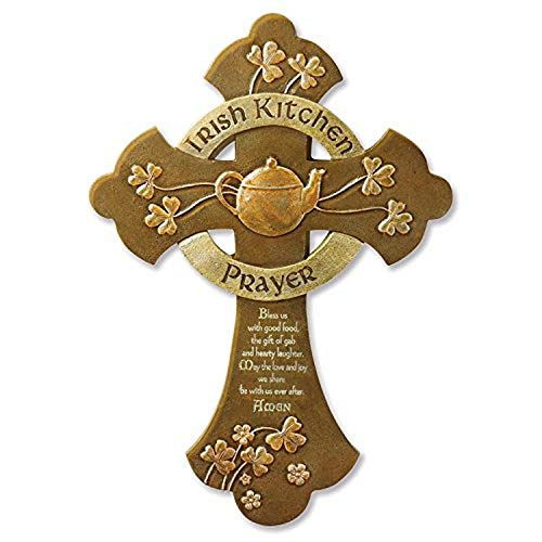 Abbey Gift Irish Kitchen Prayer Cross, 8.5 x 12.13 (56046T)