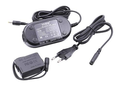 vhbw alimentatore, cavo di alimentazione sostituisce Panasonic DMW-DCC8E per fotocamera, SLR - 2 m + accoppiatore DC