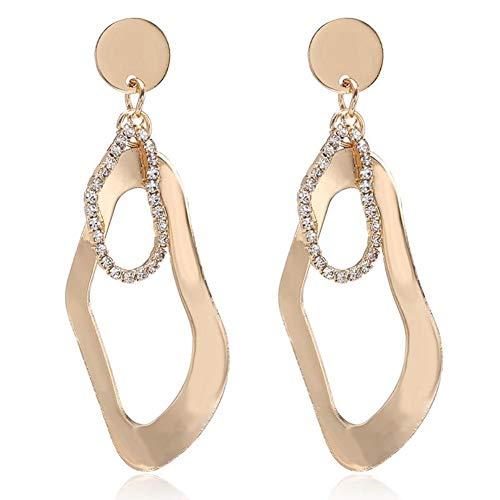 NFRADFM Pendientes de Mujer Cristal geométrico Colgante Irregular Pendientes Largos de Mujer Mejores Regalos de joyería para Fiestas navideñas