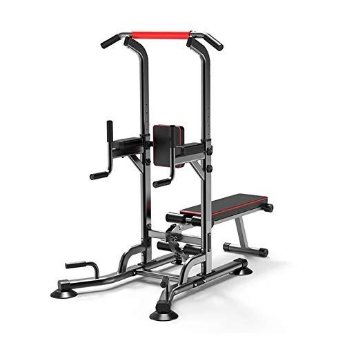 YNLRY Multifuncional barra paralela Equipo de entrenamiento de fitness para el hogar, tabla supina, altura ajustable, banco de pesas para gimnasio, color negro