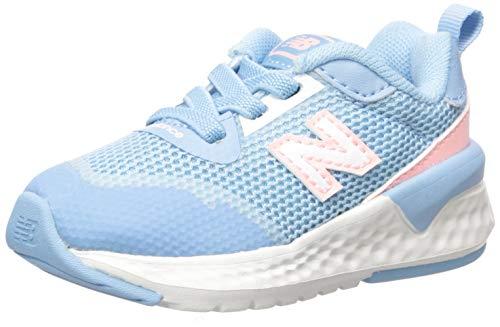 New Balance Baby Girls 515 V2 Bungee Sneaker, Summer Sky, 2 Wide Infant