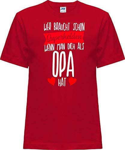 Kleckerliese Nicki T-shirt à manches courtes pour enfant Motif super-héros - Rouge - 0 ans
