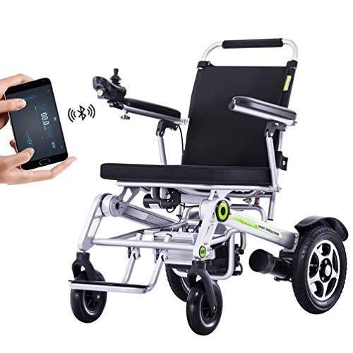 Mnjin Rollstuhl Intelligenter automatischer elektrischer Multifunktions-Transportstuhl Vollautomatischer, zusammenklappbarer elektrischer GPS-Transportstuhl für Behinderte Moderner Rollstuhl