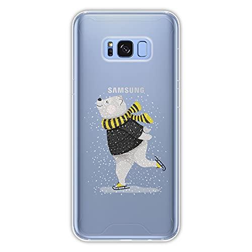 Hapdey Funda rígida para [ Samsung Galaxy S8 Plus - S8 Edge ] diseño [ Abstracto, Patinaje ] Carcasa TPU, Transparente