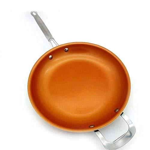 HEHELEBANG Sartén antiadherente con revestimiento de cerámica y cocina de inducción, como se muestra