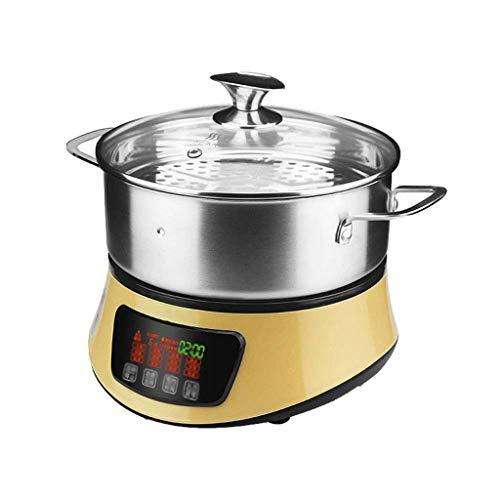 Dampfgarer 2L Dampf Gemüse, Kochen Gemüse und gesunde Lebensmittel Instant-Snapshot von Dampf-Funktion 1500W xiao1230