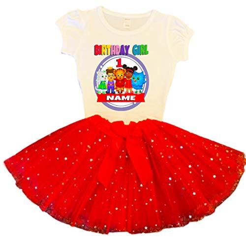 Daniel Tiger Birthday Tutu 1st Birthday Party Dress Red Tutu Outfit Shirt