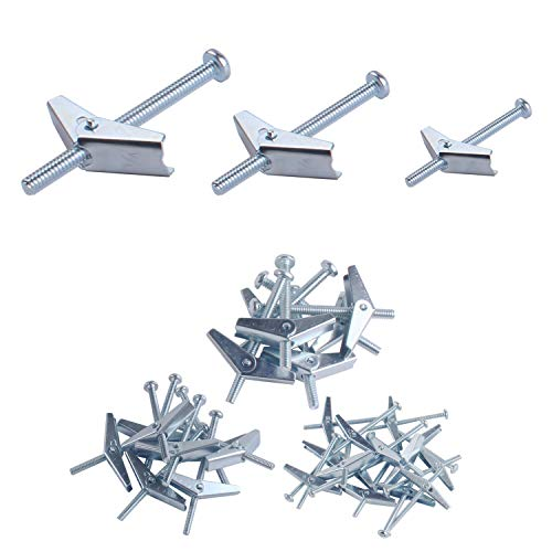 28 Pcs Toggle Bolt and Wing Nut Assortment Kit for Hanging Heavy Items on Drywall1/8 Inch, 3/16 Inch, 1/4 Inch