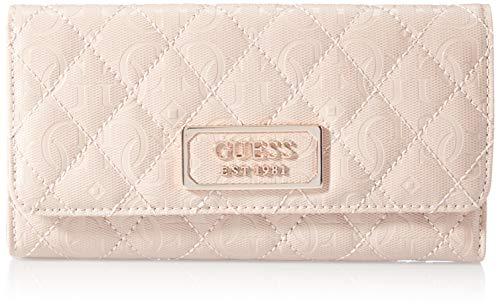 Guess Damen LOLA SLG Pocket Trifold Reisezubehör- Dreifachgefaltete Brieftasche, Rosé, Einheitsgröße